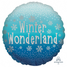 "Christmas Foil Balloon - Winter Wonderland (18"") 1pc"